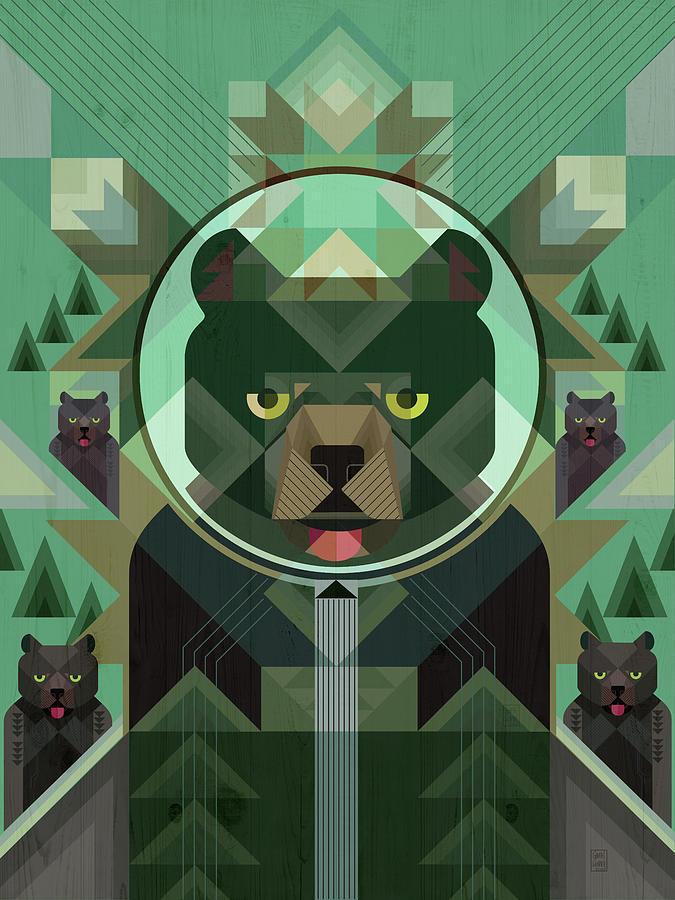 A Sleuth of Bears Print by Garth Glazier