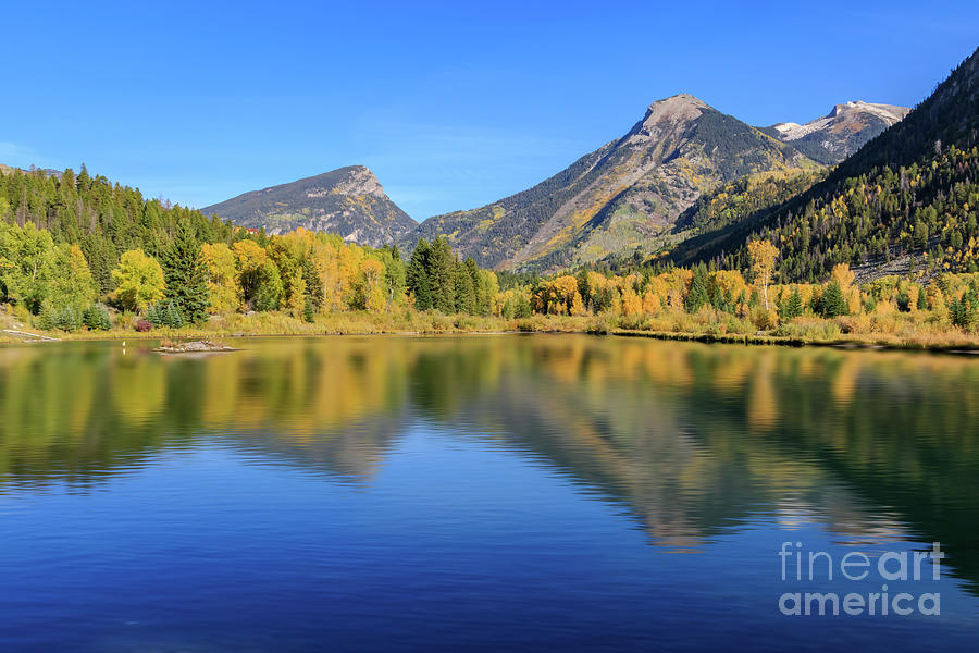 A Small, Roadside Lake In Marble, Colorado, Usa Photograph
