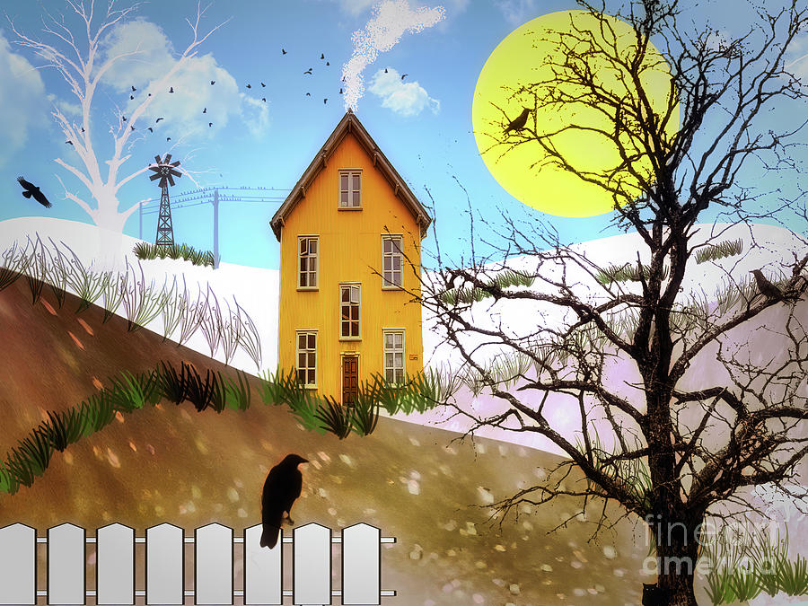 A Snowy Yellow House by Jack Torcello