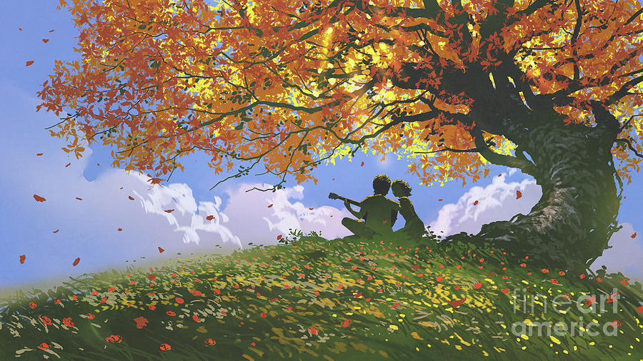 A Song For Us In Autumn Painting