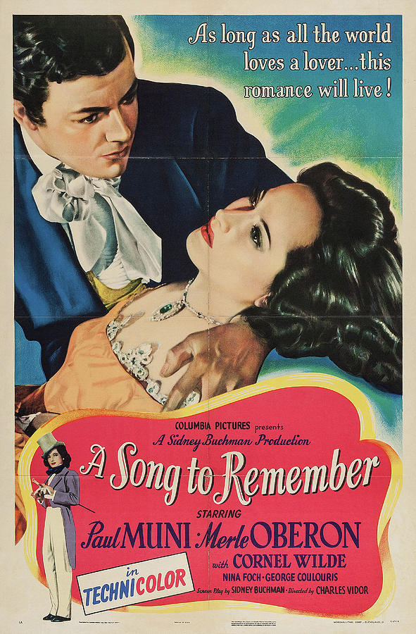 a Song To Remember, With Paul Muni And Merle Oberon, 1945 Mixed Media