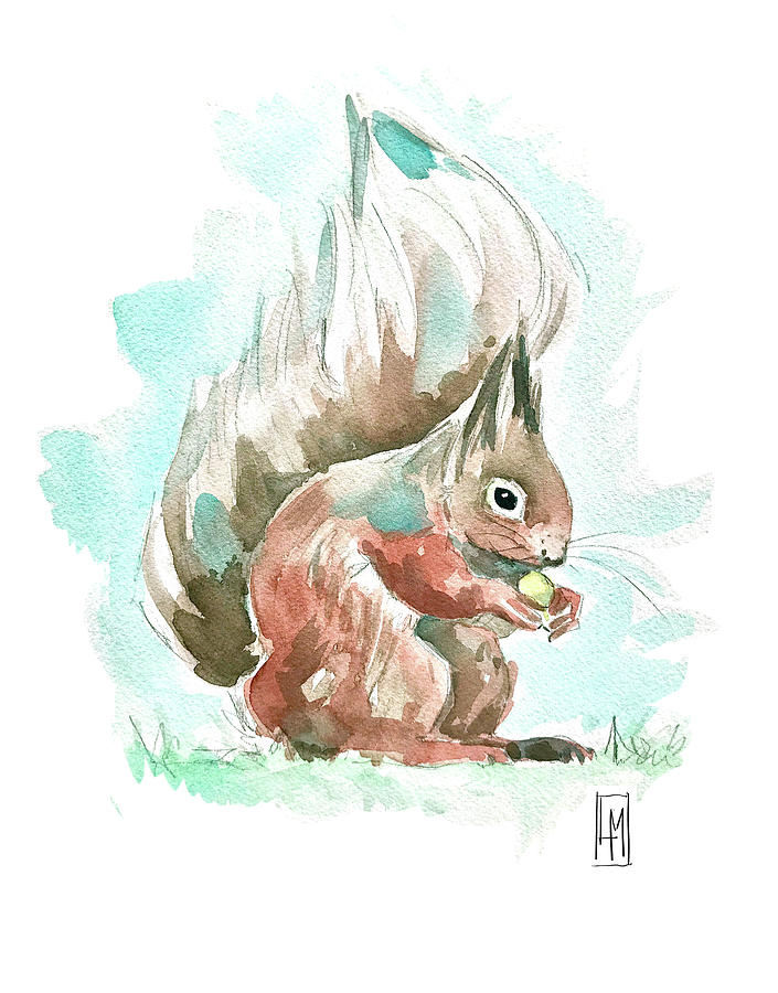 A Squirrel Painting