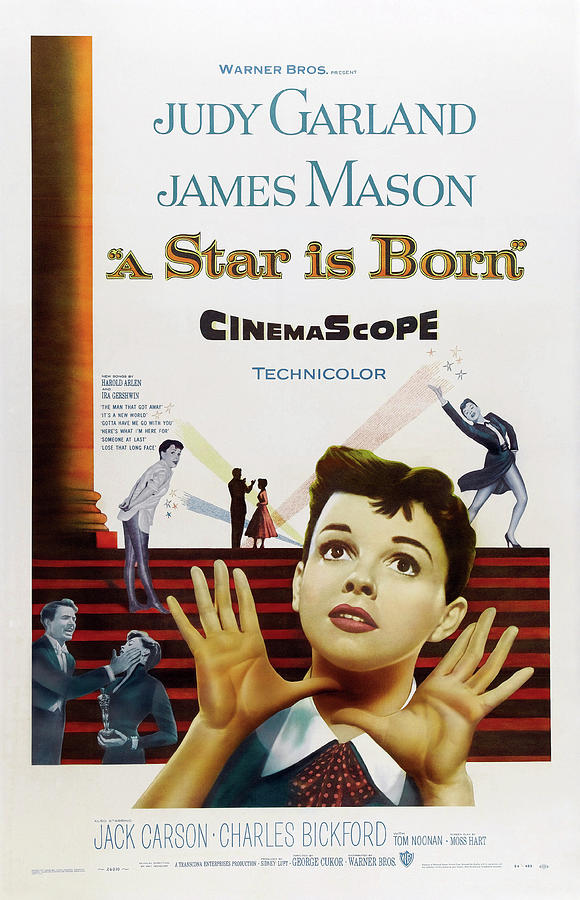 a Star Is Born, With Judy Garland And James Mason, 1954 Mixed Media