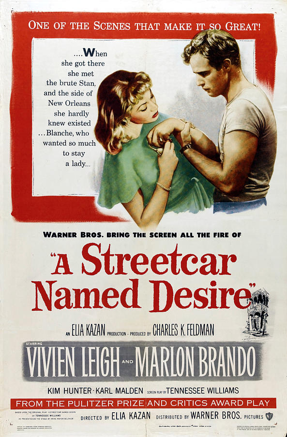 Streetcar Mixed Media - A Streetcar Named Desire, with Marlon Brando, 1951 by Stars on Art
