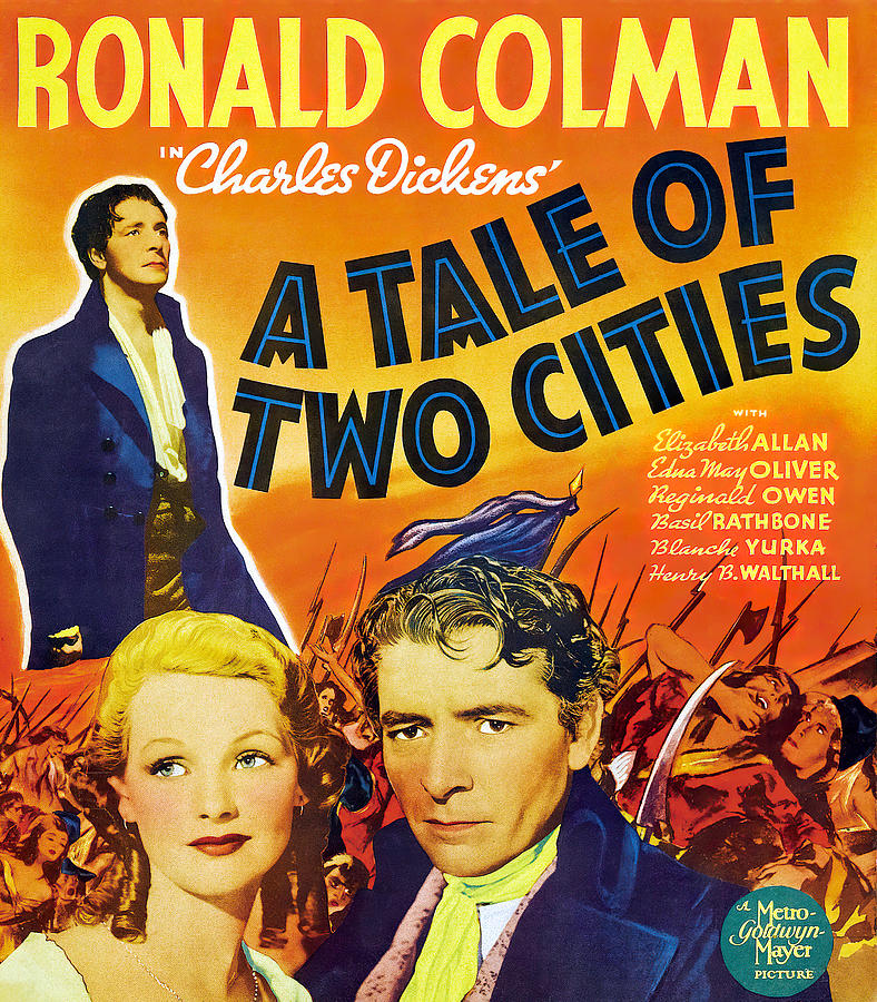 a Tale Of Two Cities, With Ronald Colman, 1935 Mixed Media