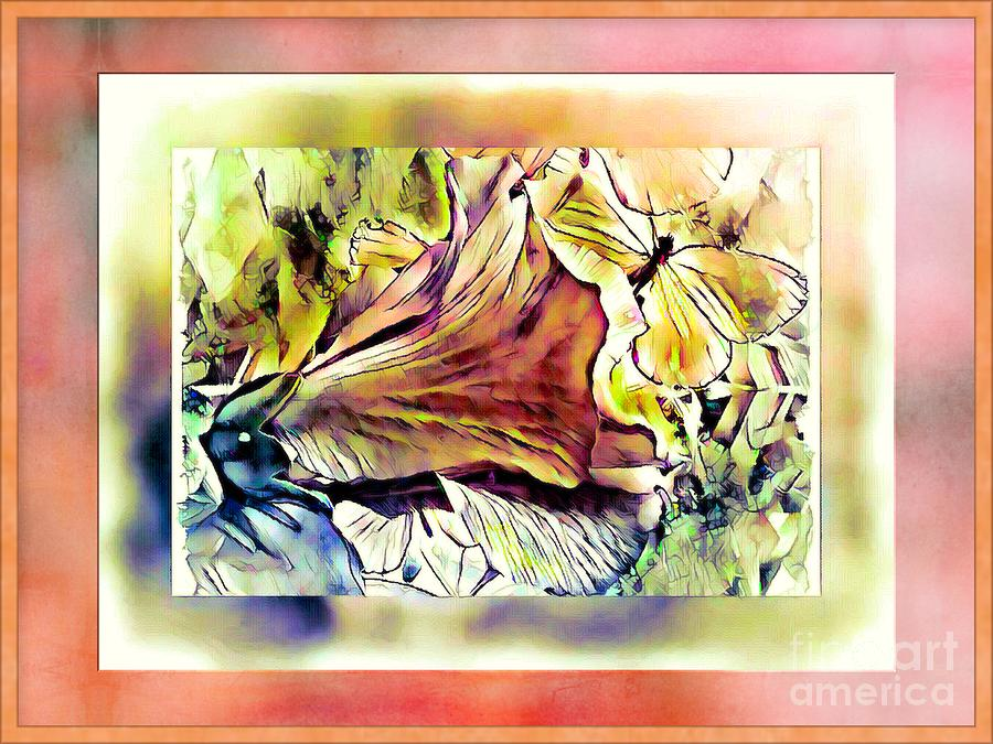 Abstract Mixed Media - A Version Of Blessings by Debra Lynch