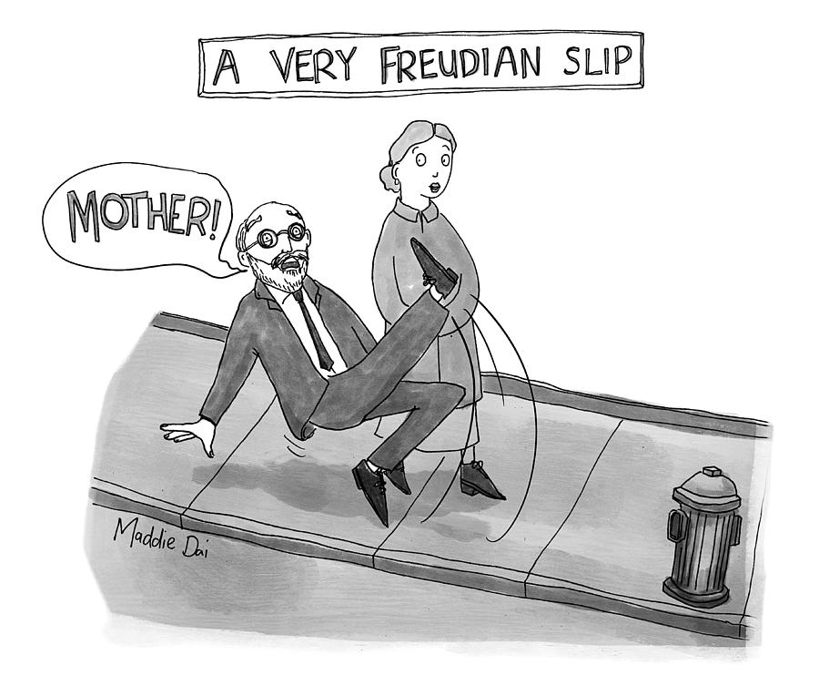 A Very Freudian Slip Drawing by Maddie Dai