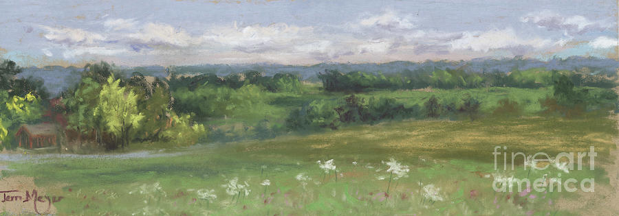 A View Of Ashland Country From The Hill At Byers Woods Painting