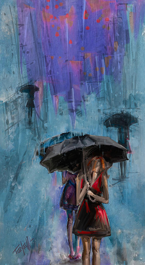 Storms Mixed Media -  Spring walk by Mark Tonelli