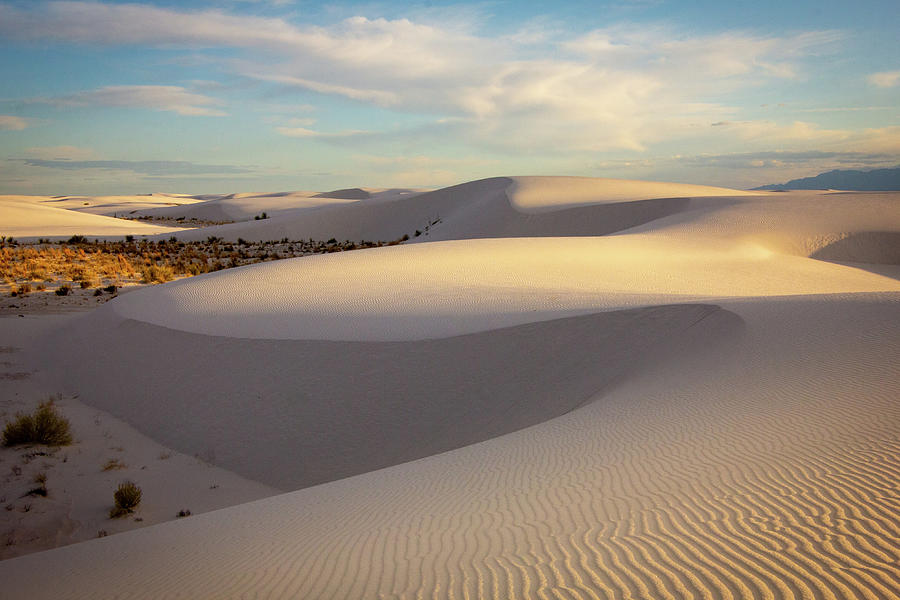 White Sands Photograph - A White Sunset by Jake Sublett
