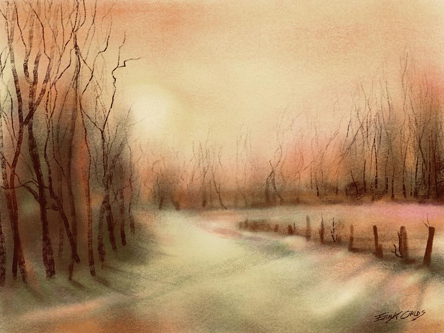 A Winters Day Painting