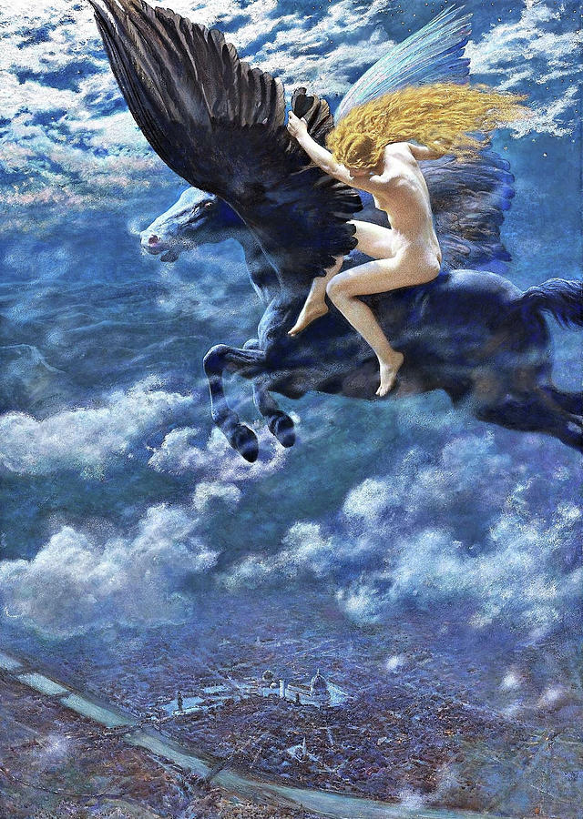 Valkyrie Painting - Valkyrie - Digital Remastered Edition by Edward Robert Hughes