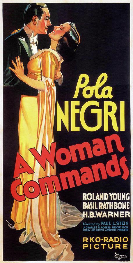 a Woman Commands Poster 1932 Mixed Media