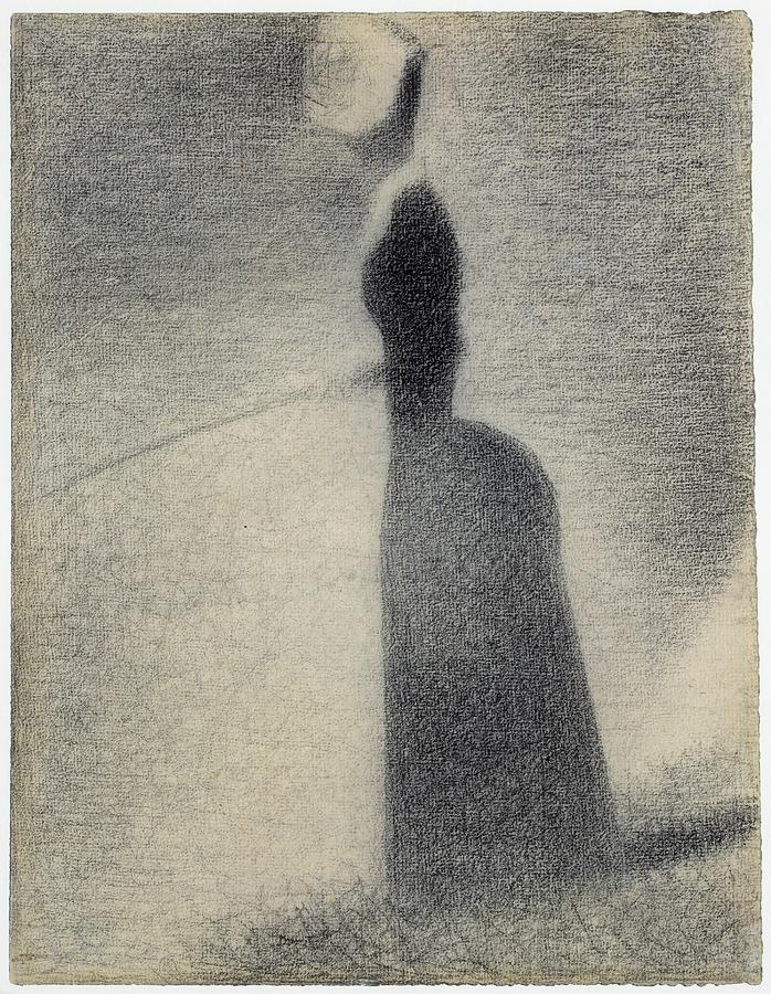 A Woman Fishing 1884 Georges Seurat Painting by Artistic Rifki