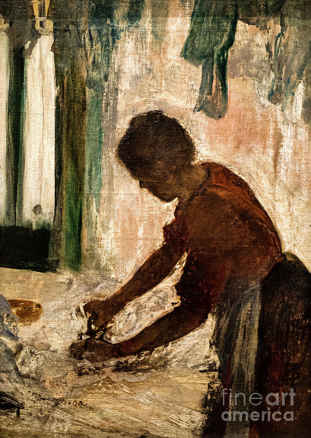 A Woman Ironing by Degas by Edgar Degas