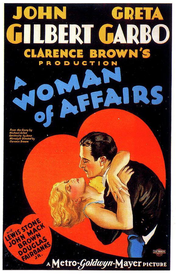 a Woman Of Affairs Movie Poster 1928 Mixed Media