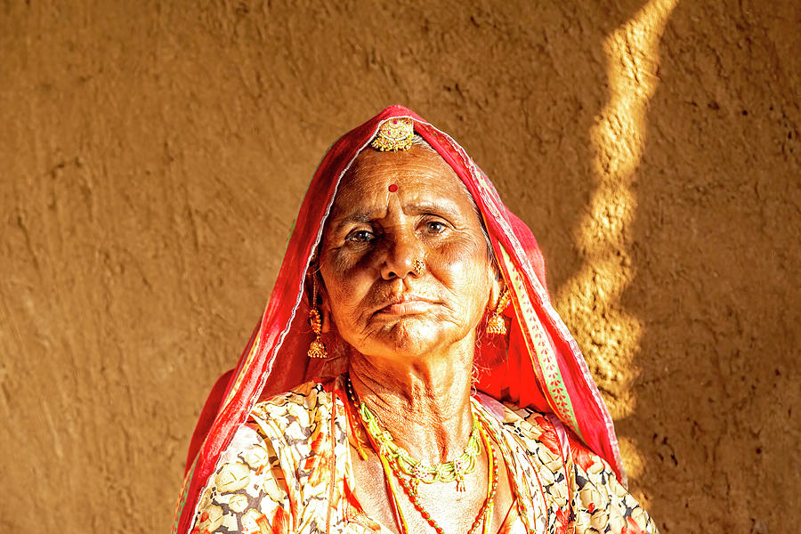 A Woman Of Rajasthan, India by Kay Brewer