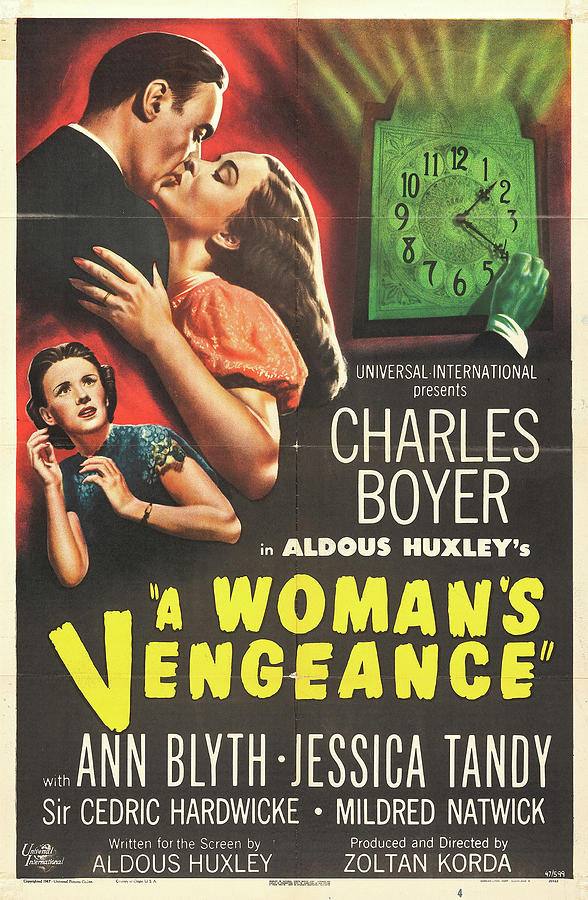 a Womans Vengeance Poster 1948 Mixed Media