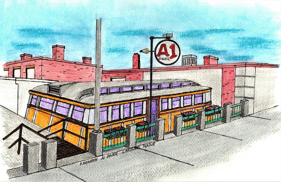 A1 Diner Drawing