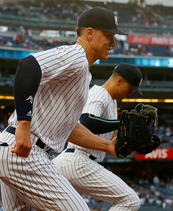 Aaron Judge and Giancarlo Stanton Photograph by Jim McIsaac