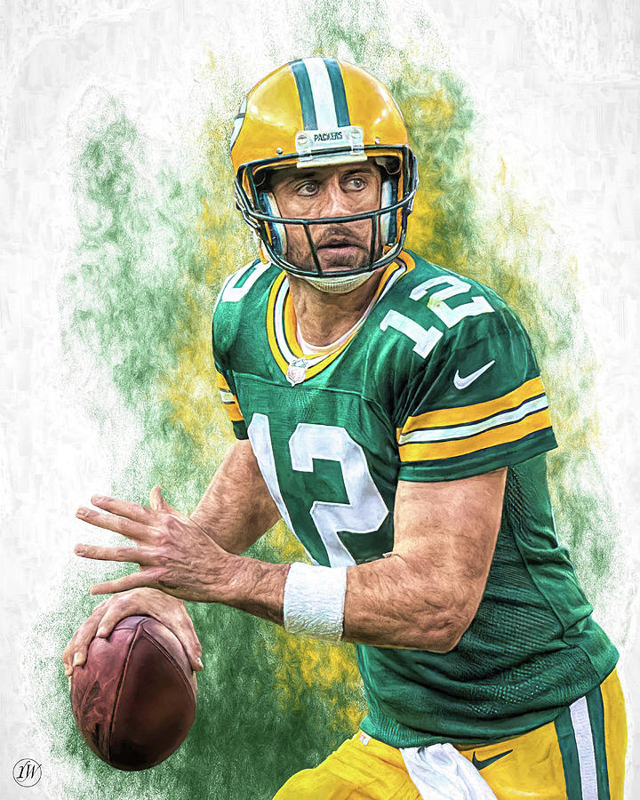 Aaron Rodgers - Team Colors Collection by Rick Wiles