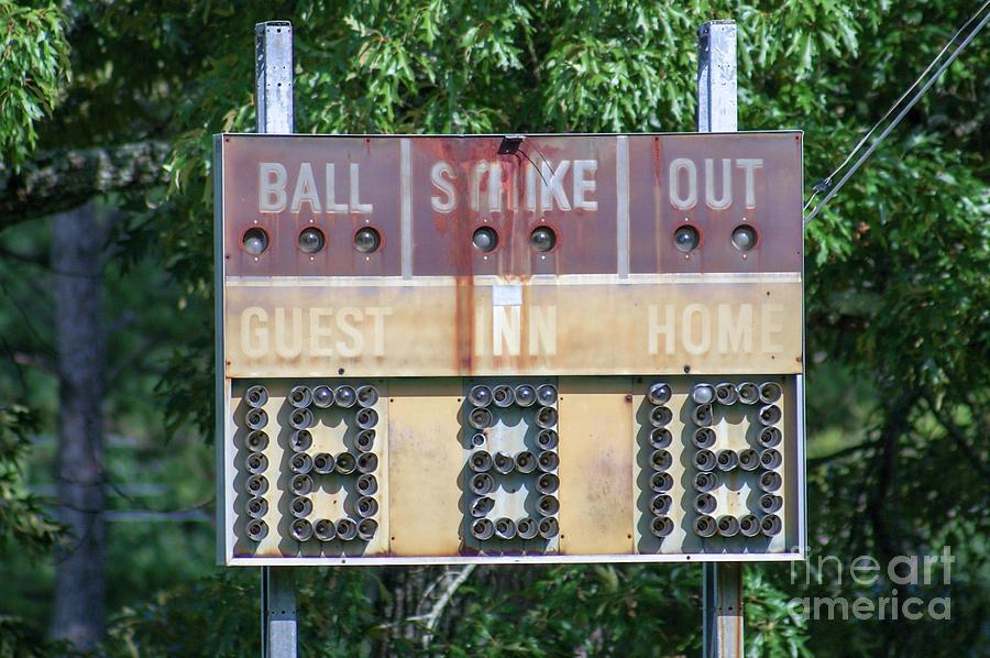 Abandoned America #11 - Baseball Scoreboard Photograph