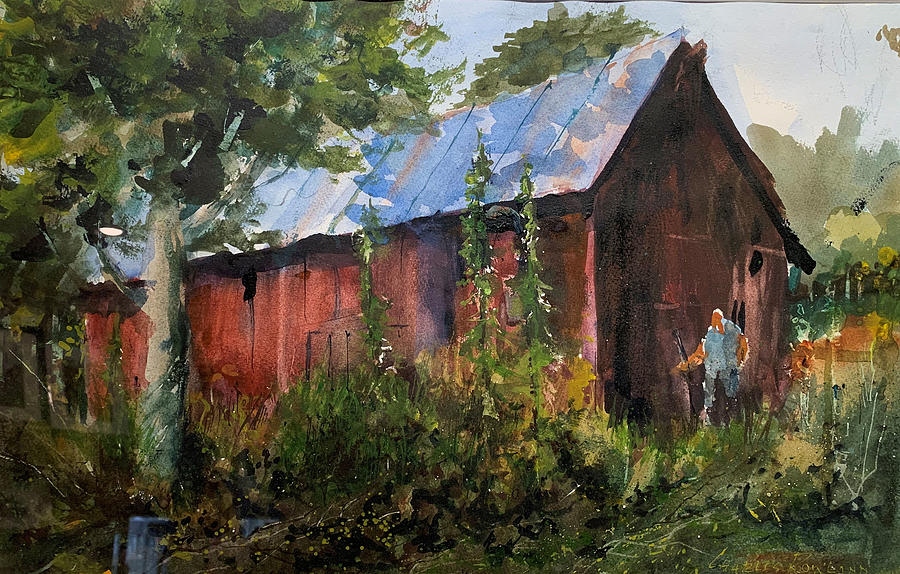 Farm Painting - Abandoned  at Aum Creek by Charles Rowland