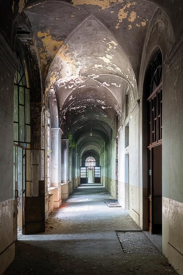 Abandoned Dark Hallway by Roman Robroek