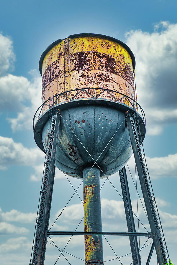 Abandoned Factory Water Tower by Gary Slawsky