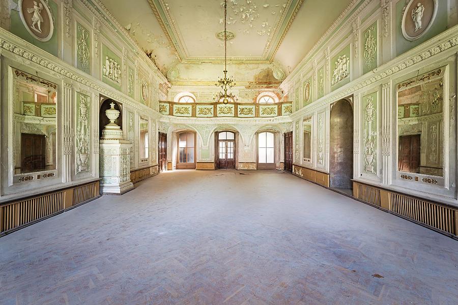 Abandoned Green Ballroom by Roman Robroek
