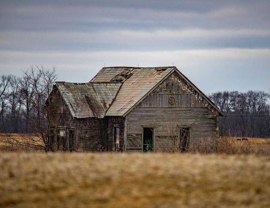 Landscape Photograph - Abandoned Indiana Schoolhouse by Scott Smith