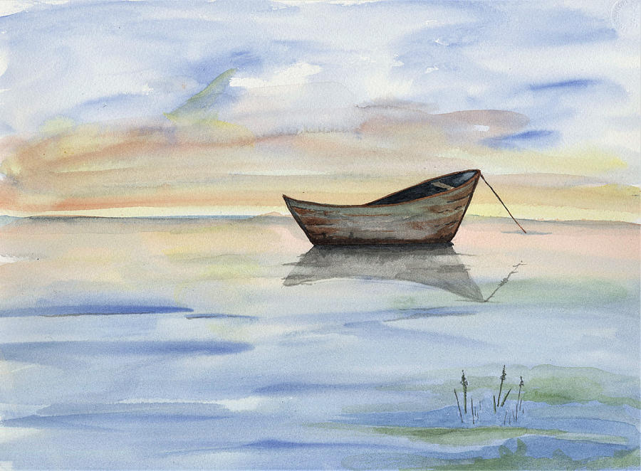 Seascape Painting - Abandoned by Judy Horan