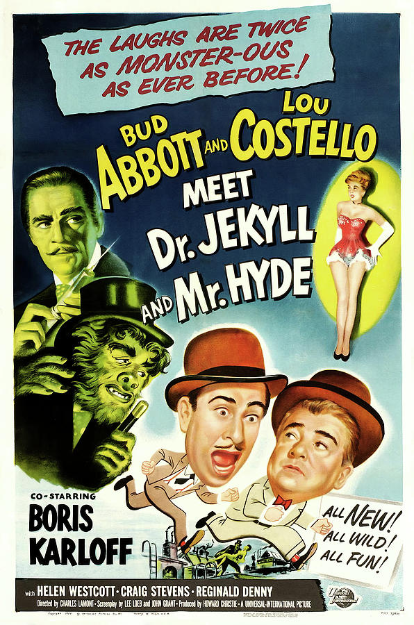 abbott And Costello Meet Dr. Jekyll And Mr. Hyde, 1953 Mixed Media