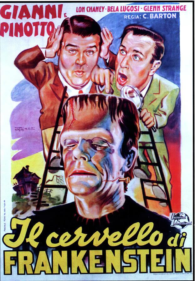 abbott And Costello Meet Frankenstein, 1948 - 2 Mixed Media