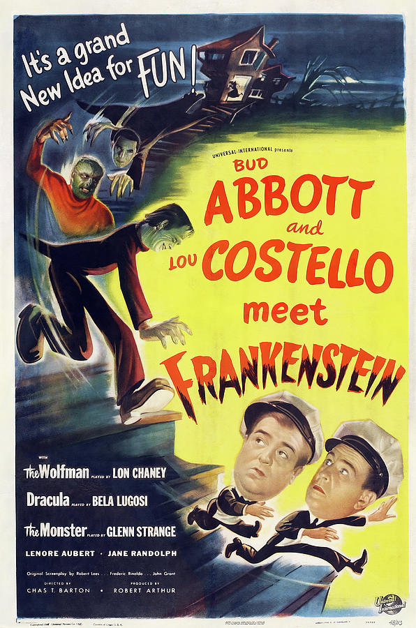abbott And Costello Meet Frankenstein, 1948 Mixed Media