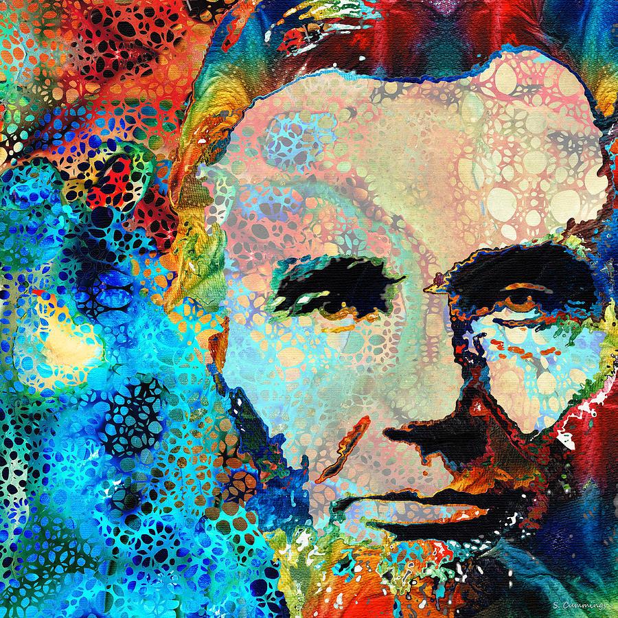 Abraham Lincoln Painting - Abe Lincoln Art - Hidden Gem - Sharon Cummings by Sharon Cummings