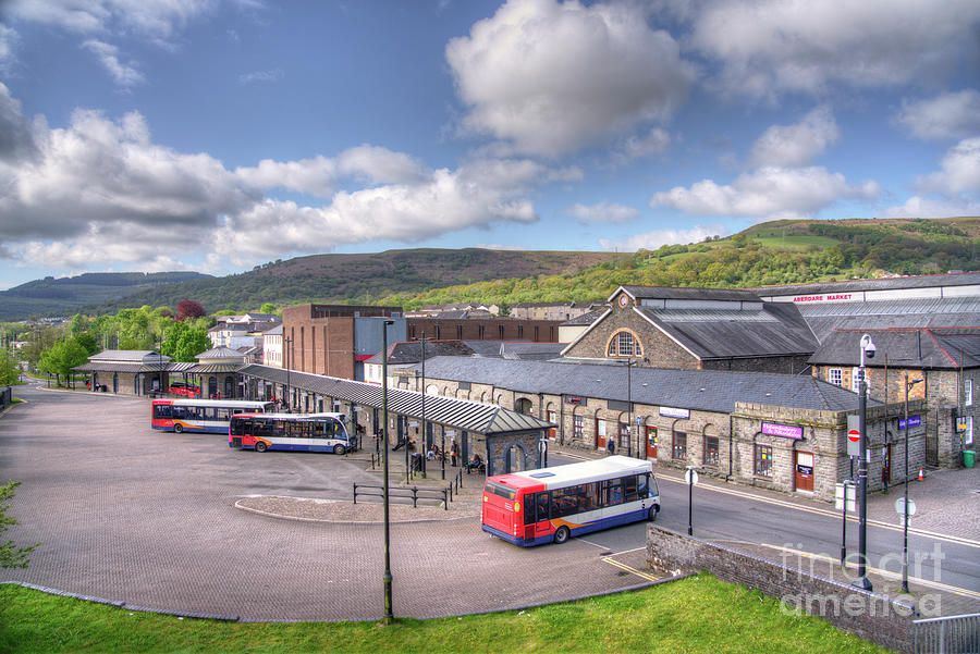 Aberdare Market Hall And Bus Station Photograph