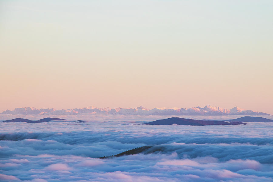 Above Clouds And Sunset - High Tatras, Slovakia Photograph