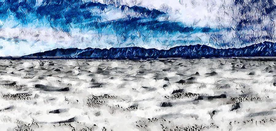 White Sands Digital Art - Above White Sands by Aerial Santa Fe