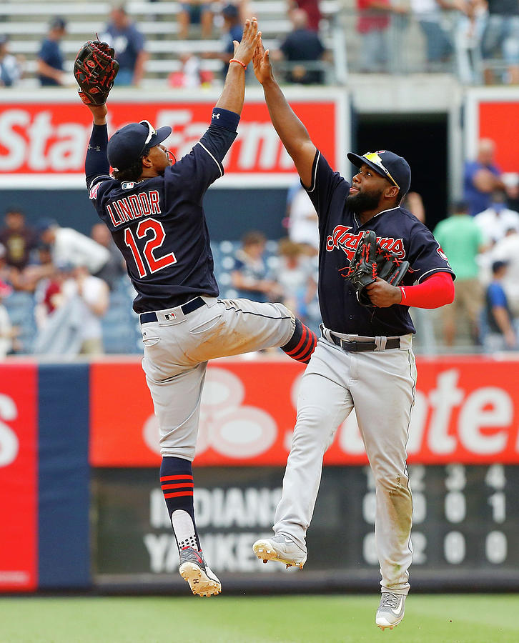 Abraham Almonte and Francisco Lindor Photograph by Jim Mcisaac