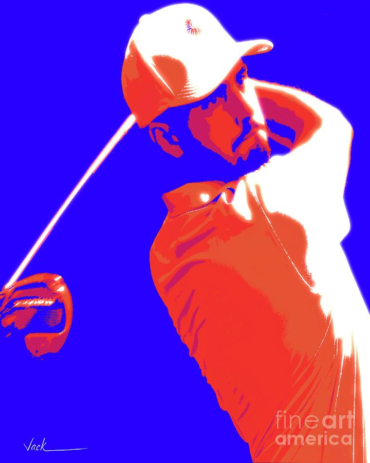 Golfer Painting - Abraham Ancer by Jack Bunds