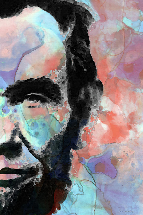 Abraham Lincoln Painting - Abraham Lincoln Art - Abstract Abe - Sharon Cummings by Sharon Cummings