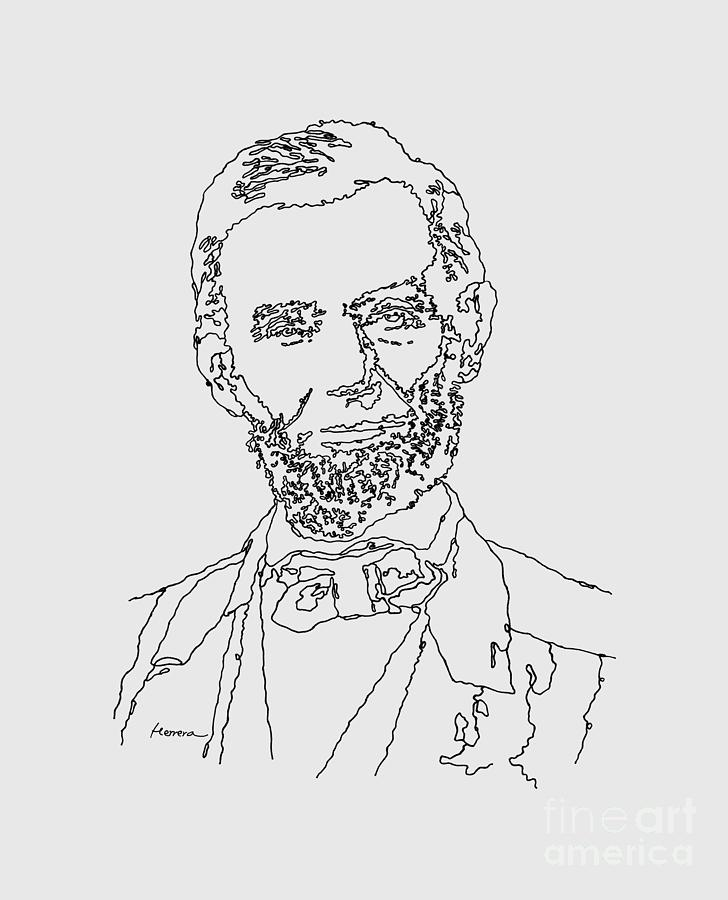 Abraham Lincoln Drawing Painting