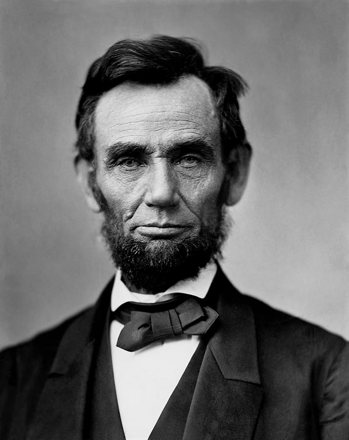 Lincoln Photograph - Abraham Lincoln by War Is Hell Store
