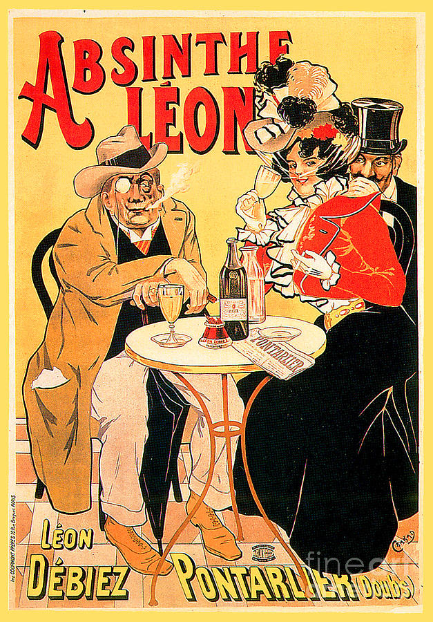 Absinthe Leon Advertisement Poster Painting