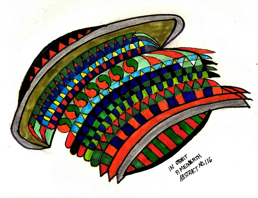 Abstract 116 My Flying Saucer Drawing