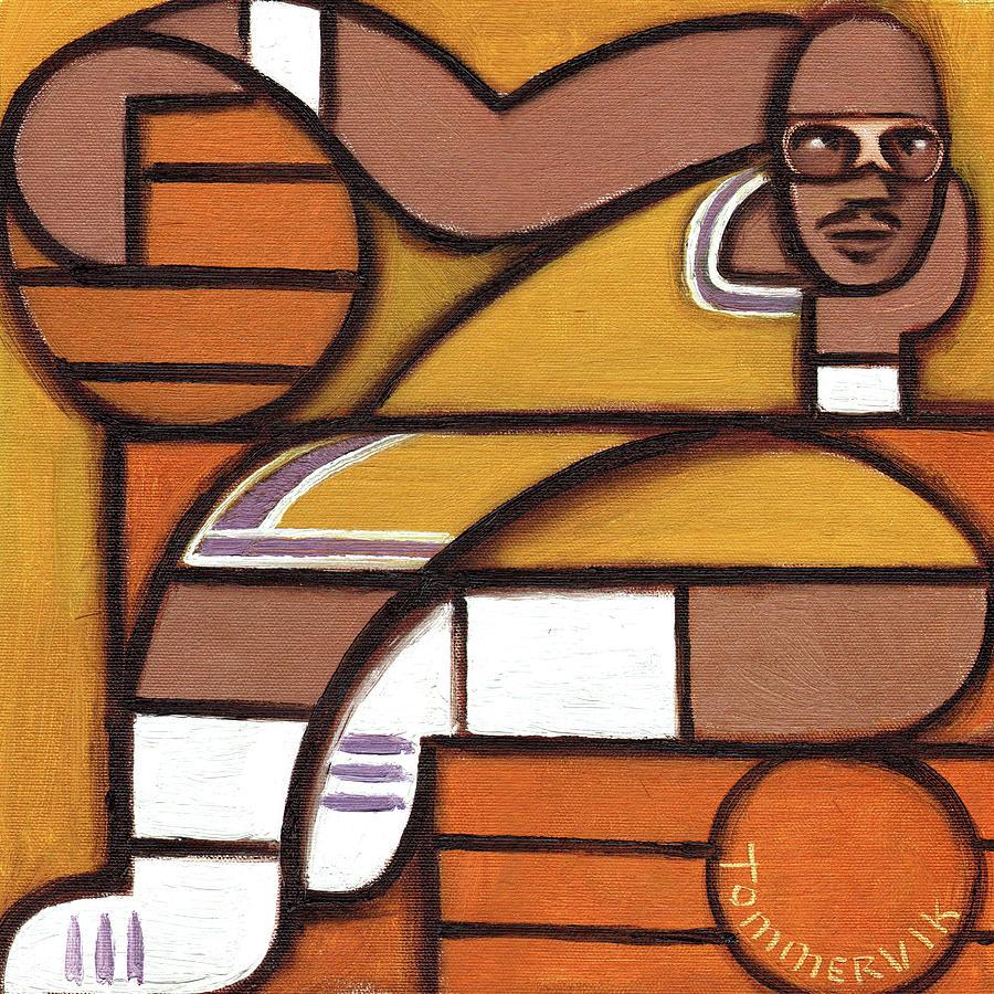 Abdul Jabbar Painting - Abstract Kareem Abdul Jabbar Art Print by Tommervik
