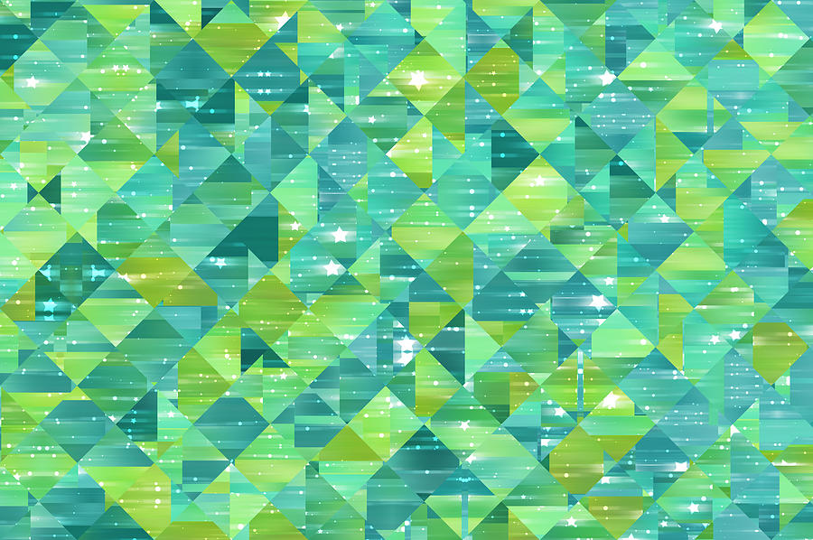 Abstract Background. Green Mosaic Photograph