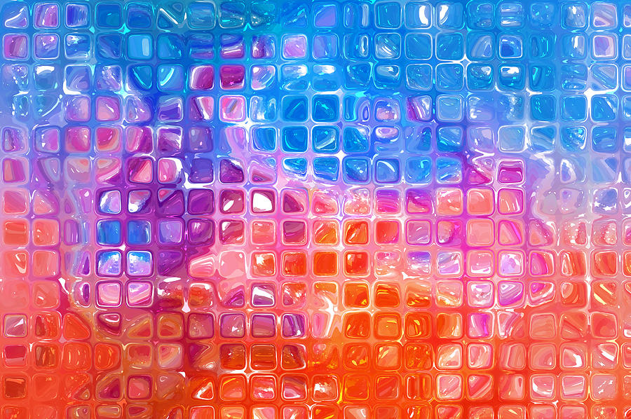 Abstract Background. Multicolored Mosaic Photograph