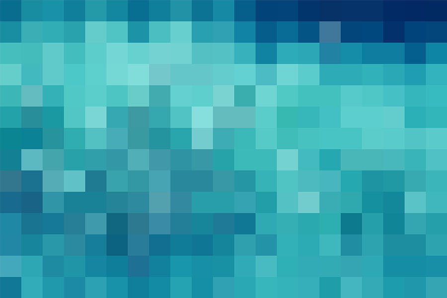 Abstract blue technology check pattern background Drawing by Shomiz